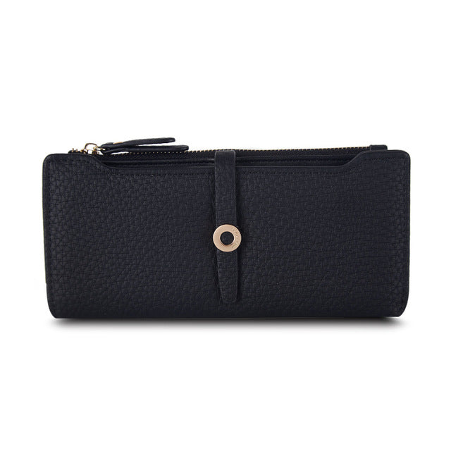 Black Long Clasp Purse - CrazyPassionateAbout.com