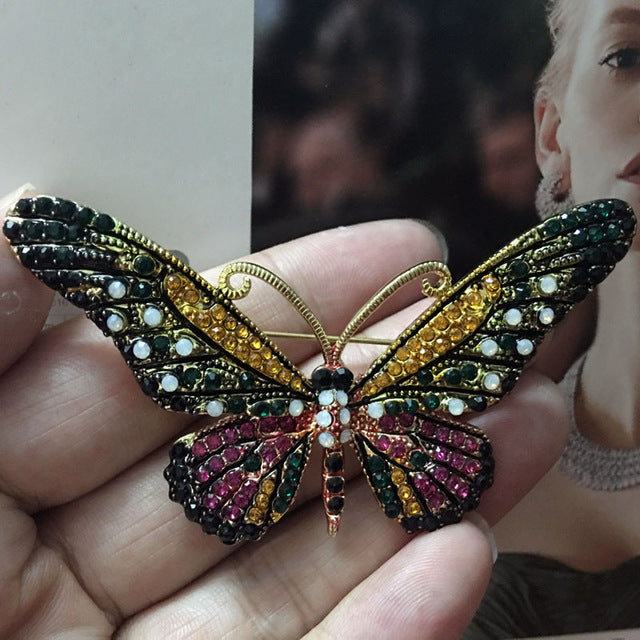 Rhinestone Butterfly Brooches - CrazyPassionateAbout.com
