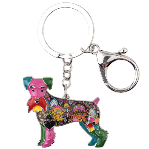 Schnauzer Dog Key Chain - CrazyPassionateAbout.com