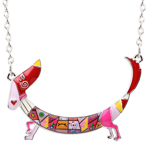 Dachshund Maxi Necklace - CrazyPassionateAbout.com