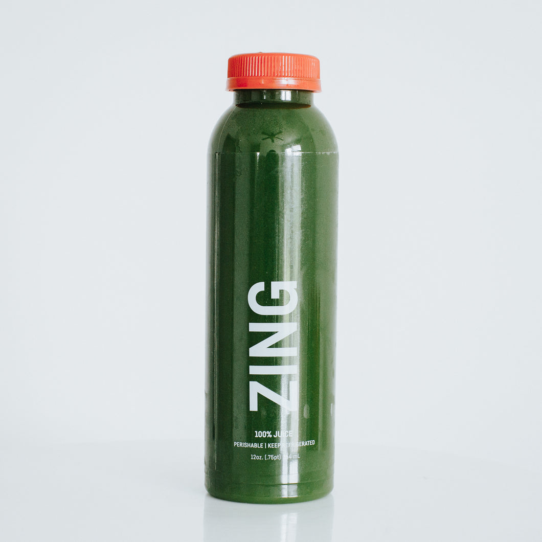 zing. [cucumber, spinach, green apple, parsley]
