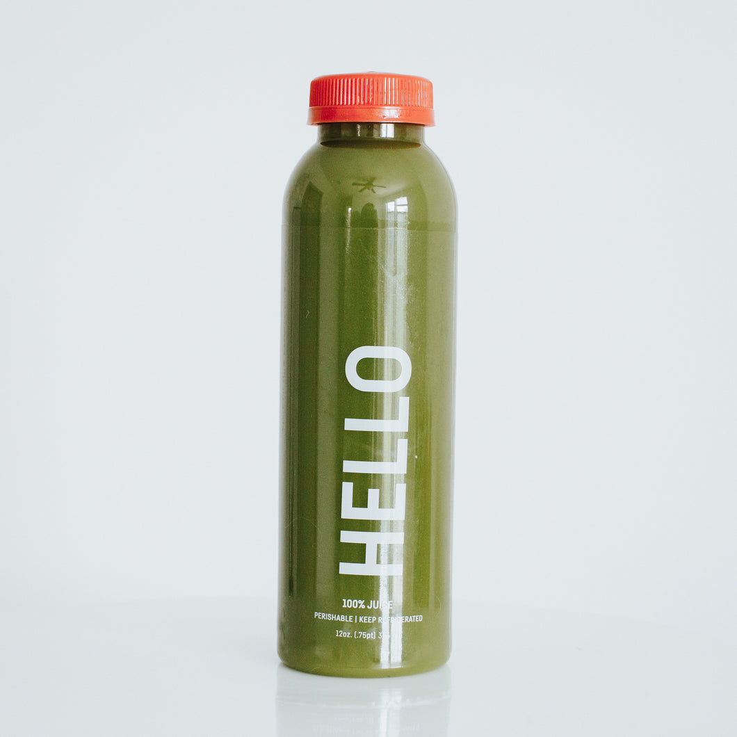 hello. [kale, pineapple, ginger, lemon]