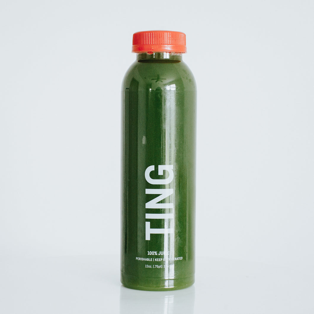 ting. [spinach, celery, green apple, lime]