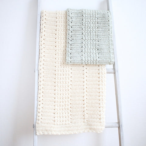 Crochet Pattern - Enchanted Moments Baby Blanket and Scarf Set
