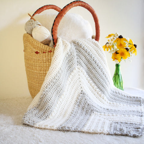 Crochet Pattern - Flutterby Baby Blanket, Coaster, and Dishcloth Combo P-Flutterby