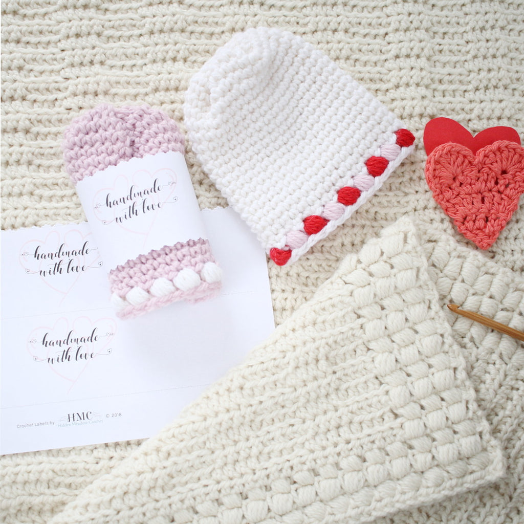 Handmade with Love - Hearts - Wraps