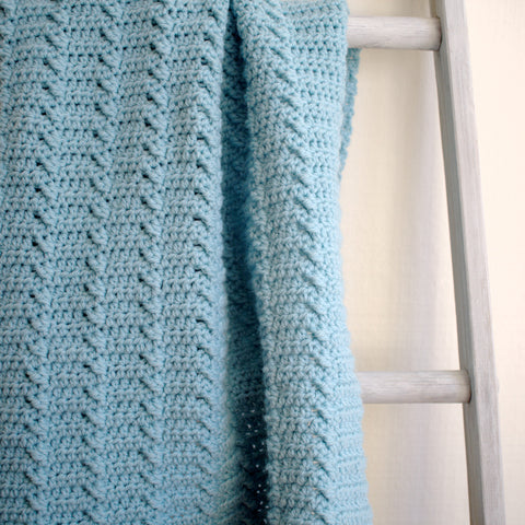 Crochet Pattern - Lakeshore Ripples Baby Blanket P129