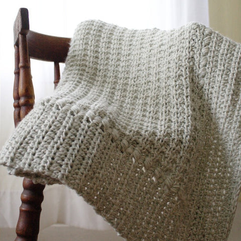 Crochet Pattern - Meadow Sage Baby Blanket P122