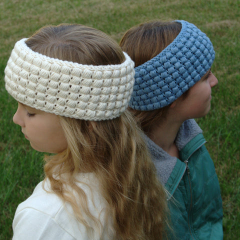 Crochet Pattern - Gathered Buds Earwarmer P158