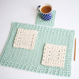 Crochet Pattern - Sunny Hollow Placemat and Coaster P108