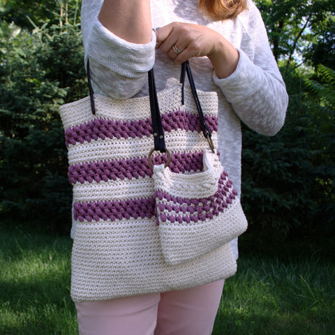 Crochet Patterns - Red Clover Summer Tote and Mini Tote P251