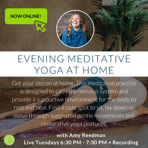 Fall Meditative Yoga at Home with Amy | Tuesdays Online at 6:30 pm