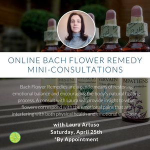 Online Bach Flower Remedy Mini-Consultations with Laura Artuso | Saturday, April 25th
