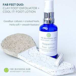 Clay Foot Exfoliator | Fab Feet Duo