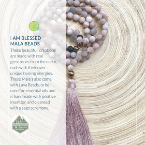 I Am Blessed Mala Bead Necklaces