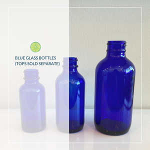 Blue Glass Bottles (Tops sold separately)