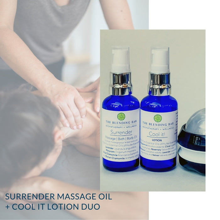 Duo: Surrender Massage Oil + Cool it! Lotion