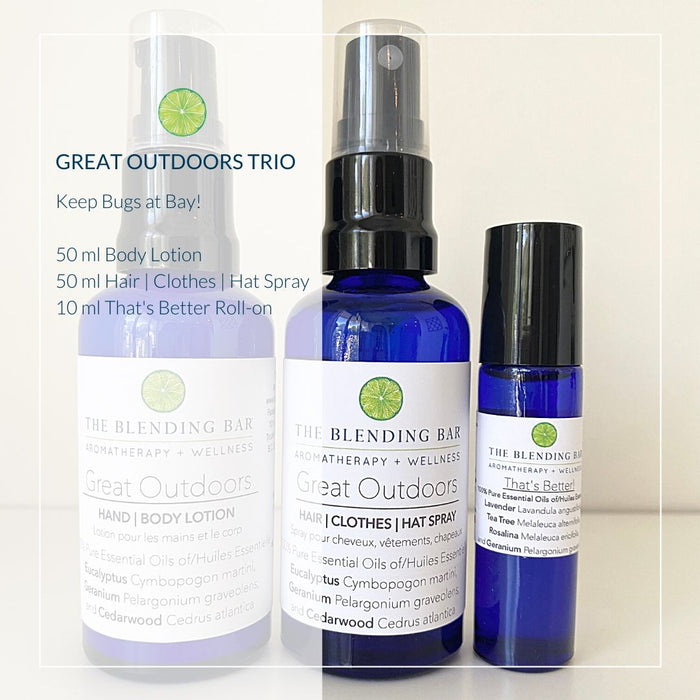 Great Outdoors Trio for Adults - Lotion | Spray | Roll on