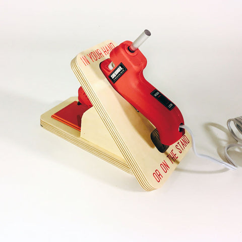 Hot Glue Gun Safety Stand Kit with Dual Temp Gun -  Tools - Maker Ready