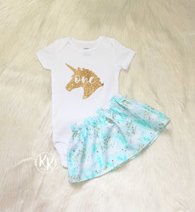 0eca31040 Unicorn Birthday Outfit, Unicorn Birthday Shirt, Girls Unicorn Shirt, 1st  Birthday Shirt,
