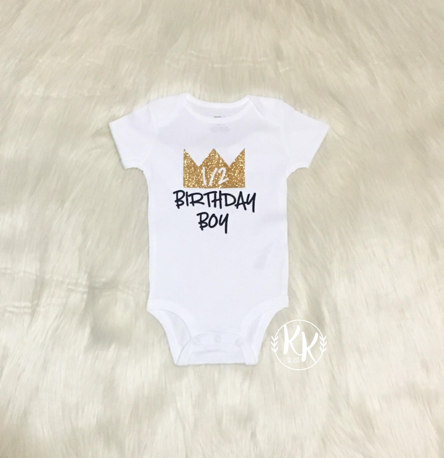 Half Birthday Boy Shirt Crown Boys King