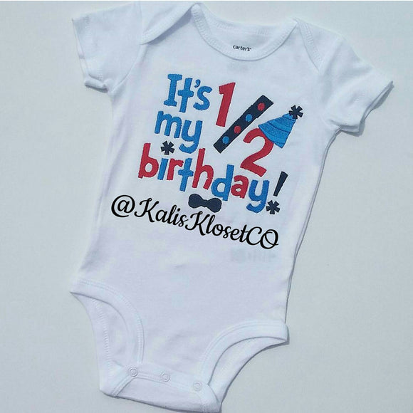 Boys Half Birthday Shirt