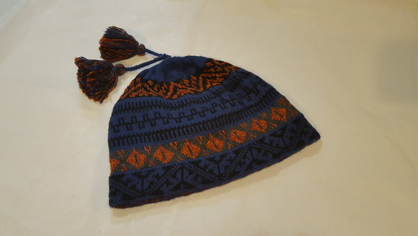 Fleece lined alpaca cap