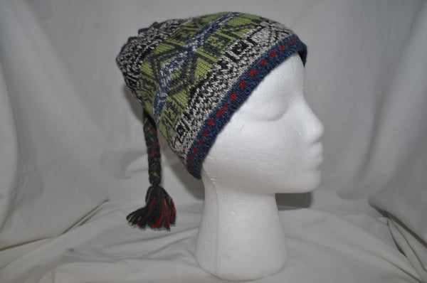 Celtic design fleeced lined alpaca cap
