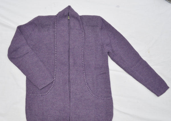 Alpaca sweater with pockets in violet