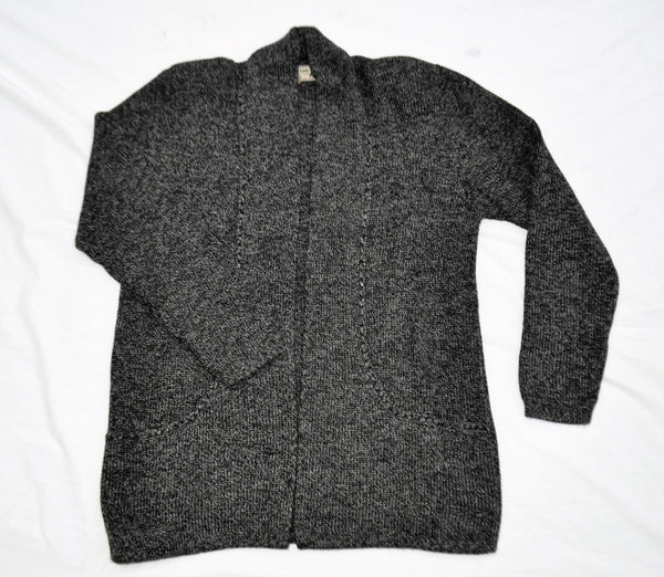 Alpaca sweater with pockets in charcoal