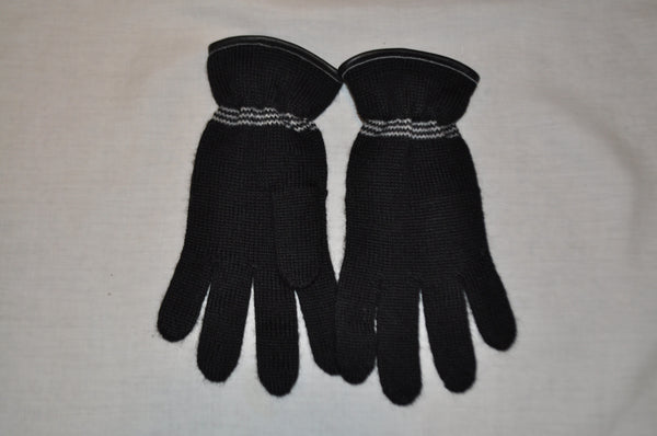 Alpaca gloves with cuff in black