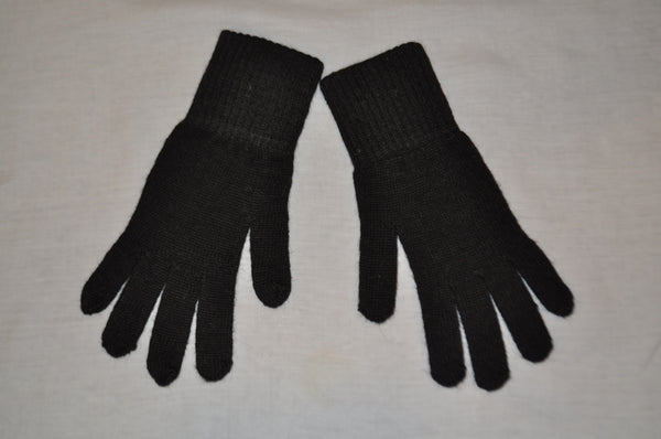 Knitted alpaca gloves in dark brown