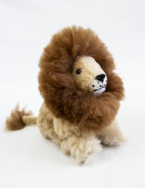 Alpaca Fur Seated Lion