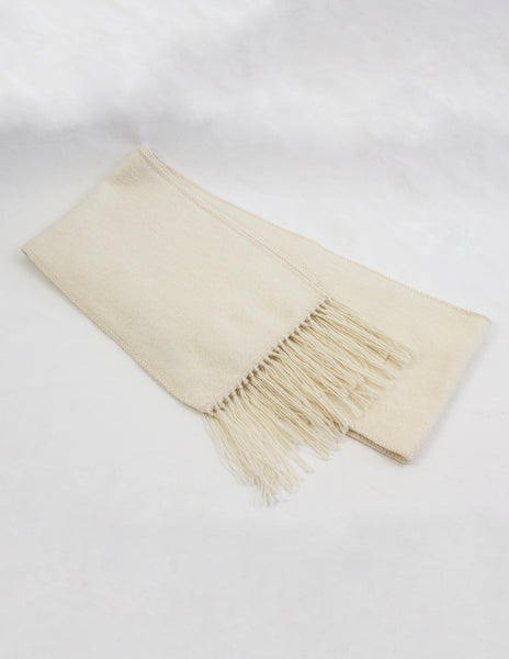 100% Alpaca Woven Scarf with fringe