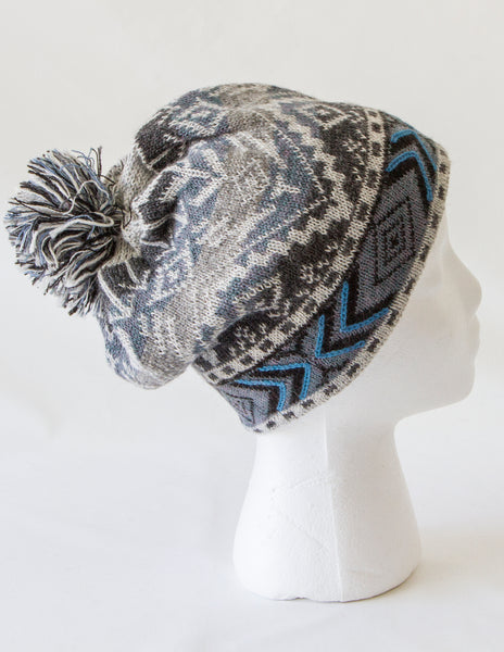 Ice Blue Alpaca Hat