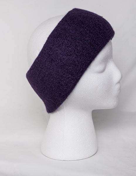 Alpaca headband in purple