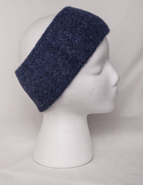 Alpaca headband in blue