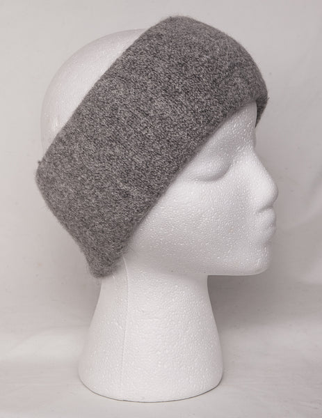 Alpaca headband in grey