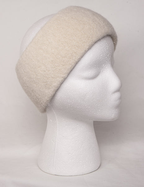 Alpaca headband in ivory
