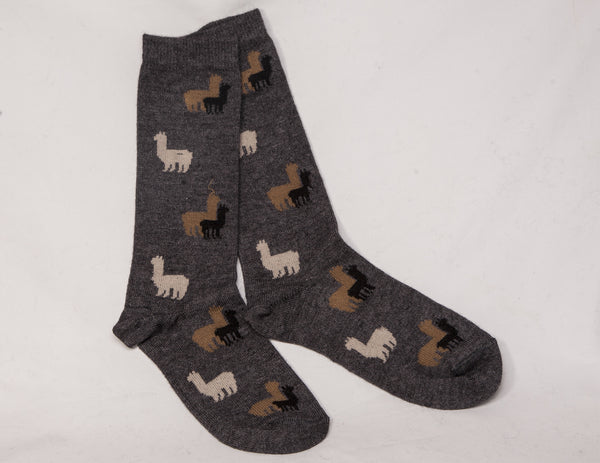 Alpaca socks with alpaca design