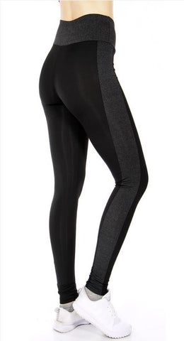 032-Legging#32 Black/Charcoal-Super Fit & Comfort  Band Workout Legging
