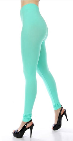 008-Legging#8 Mint Seamless Solid Legging