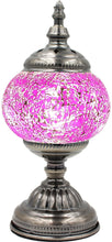 Load image into Gallery viewer, Handmade Mosaic Glass Table Lamp - Multicolor 14