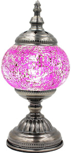 Handmade Mosaic Glass Table Lamp - Multicolor 14