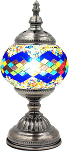 Handmade Mosaic Glass Table Lamp - Multicolor 13