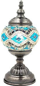 Handmade Mosaic Glass Table Lamp - Multicolor 12