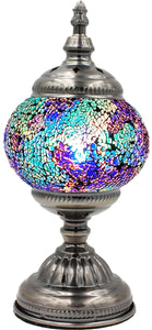 Handmade Mosaic Glass Table Lamp - Multicolor 11