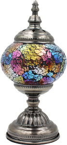 Handmade Mosaic Glass Table Lamp - Multicolor 9