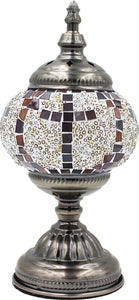 Handmade Mosaic Glass Table Lamp - Multicolor 8