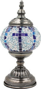 Handmade Mosaic Glass Table Lamp - Multicolor 7